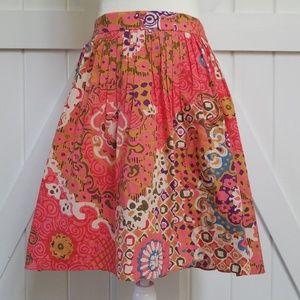 J. Crew Vibrant Rose A-line Skirt